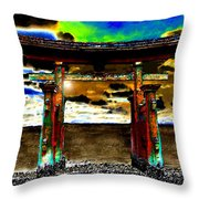 Torii Sunrise Throw Pillow