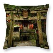 Toriis At Inari Throw Pillow