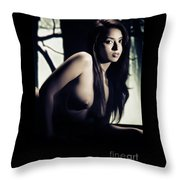 Toriwaits Nude Fine Art Print Photograph In Black And White 5101 Throw Pillow