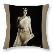 Toriwaits Nude Fine Art Print Photograph In Black And White 5108 Throw Pillow