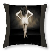 Toriwaits Nude Fine Art Print Photograph In Black And White 5123 Throw Pillow