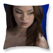 Toriwaits Nude Fine Art Print Photograph In Color 5072.02 Throw Pillow