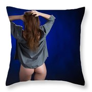 Toriwaits Nude Fine Art Print Photograph In Color 5085.02 Throw Pillow