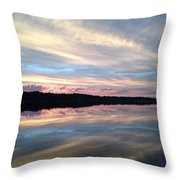 Torn Between Two Rivers Throw Pillow
