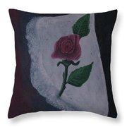 Torn Canvas Rose Throw Pillow
