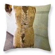 Torn Dress Form Throw Pillow
