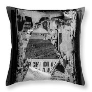 Torn Posters Rome Italy Throw Pillow