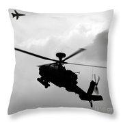 Tornado F3 And Apache Throw Pillow
