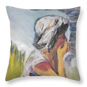 Tornado Girl Throw Pillow