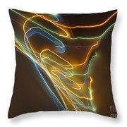 Tornado Of Lights. Dancing Lights Series Throw Pillow