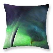 Tornado Storm 1 - Collage Throw Pillow