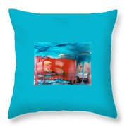 Tornado Weather Throw Pillow