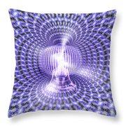 Toroidal Hologram Throw Pillow