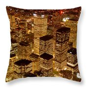 Toronto At Night Throw Pillow