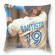 Toronto Blue Jays Jose Bautista 2 Throw Pillow