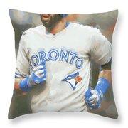 Toronto Blue Jays Jose Bautista Throw Pillow