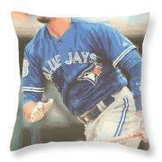 Toronto Blue Jays Troy Tulowitzki Throw Pillow