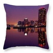 Toronto Cracking Dawn Throw Pillow