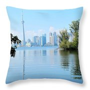 Toronto From The Islands Park Throw Pillow