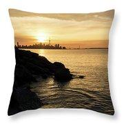 Toronto Lakeshore Vortex - Throw Pillow