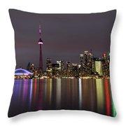 Toronto Lights Throw Pillow