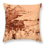 Toronto Market Street Throw Pillow
