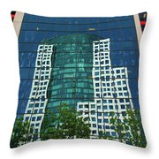 Toronto Metro Hall Reflected In The Cbc Building Throw Pillow