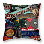 Toronto Neon Throw Pillow
