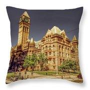 Toronto Old City Hall  Throw Pillow