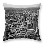 Toronto Ontario Scrapers In Black And White Throw Pillow