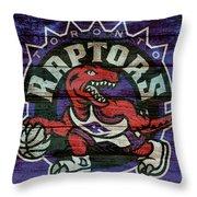 Toronto Raptors Barn Door Throw Pillow