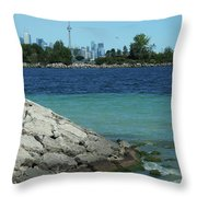 Toronto Shoreline Throw Pillow