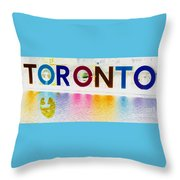 Toronto Sign In Muted Colours Throw Pillow