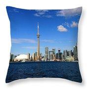 Toronto Skyline 26 Throw Pillow