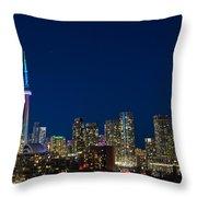 Toronto Skyline And World Pride Throw Pillow