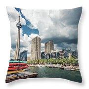 Toronto - Skyline / Harbourfront Throw Pillow