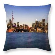 Toronto Sundown Throw Pillow
