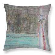 Toronto The Confused Throw Pillow