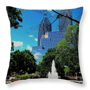 Toronto Wellington Street Park Throw Pillow