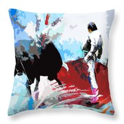 Toroscape 35 Throw Pillow by Miki De Goodaboom