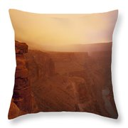 Toroweap Overlook Storm Sunrise Throw Pillow