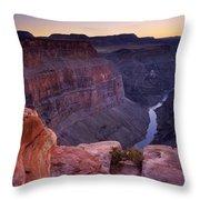 Toroweap Overlook Sunset Throw Pillow
