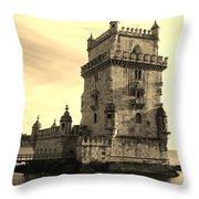 Torre De Belem Throw Pillow