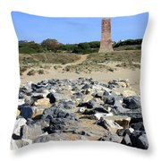 Torre De Los Ladrones At Cabopino Throw Pillow