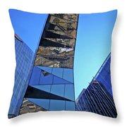 Torre Mare Nostrum - Torre Gas Natural Throw Pillow by Juergen Weiss