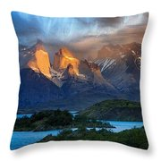 Torres Del Paine National Park, Chile Throw Pillow