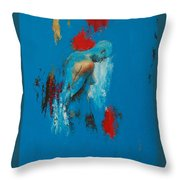 Torso In Blue Throw Pillow