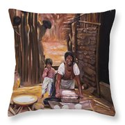 Tortillas De Madre Throw Pillow