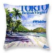 Tortola British Virgin Islands Shirt Throw Pillow