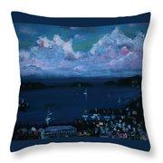 Tortola Clouds At Hill Top Throw Pillow